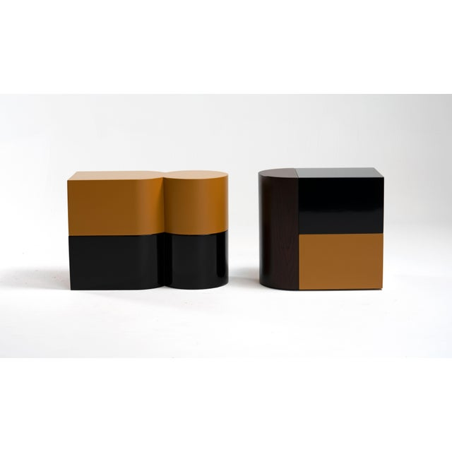 Contemporary Cadoro Punto Side Tables by Jason Mizrahi For Sale - Image 3 of 5