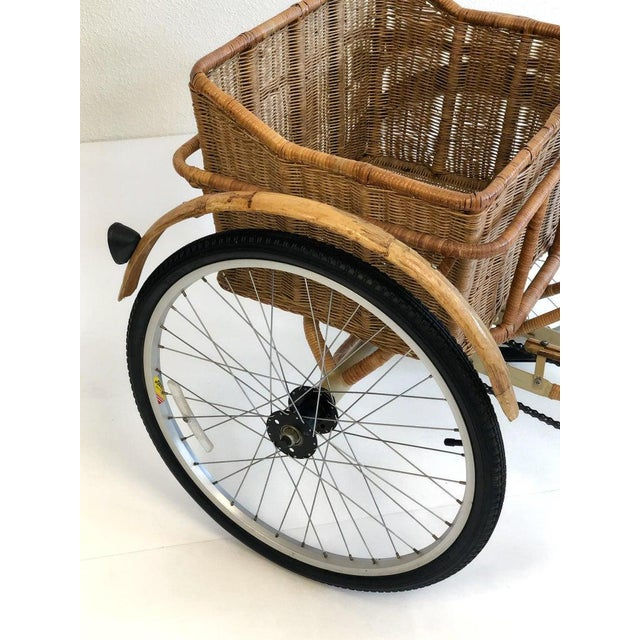 Wicker and Bamboo Tricycle For Sale - Image 9 of 12