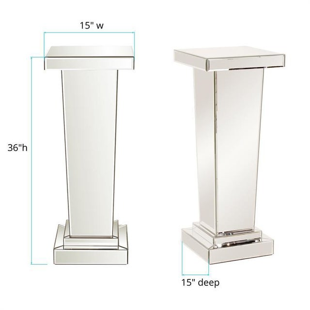 Kenneth Ludwig Chicago Kenneth Ludwig Chicago The Tapered Mirrored Pedestal For Sale - Image 4 of 6