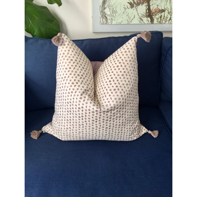 """Early 21st Century Custom Lee Jofa """"Little Leaf"""" Heather Purple Pillow Cover For Sale - Image 5 of 5"""
