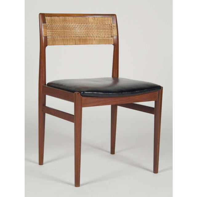 Danish Modern Model W26 Teak Chairs by Erik Worts - Set of 4 For Sale - Image 3 of 12