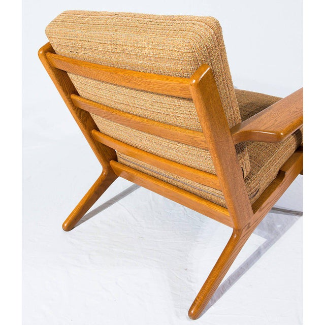 Tan Pair of Hans Wegner GE-290 Lounge Chairs For Sale - Image 8 of 10