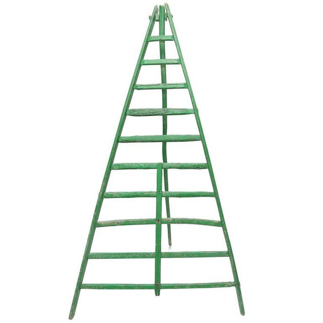 Green 19th Century Fruit Picking Ladder For Sale - Image 8 of 8