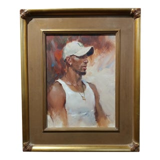 Dan Goozee - Portrait of Michael - Oil Painting For Sale