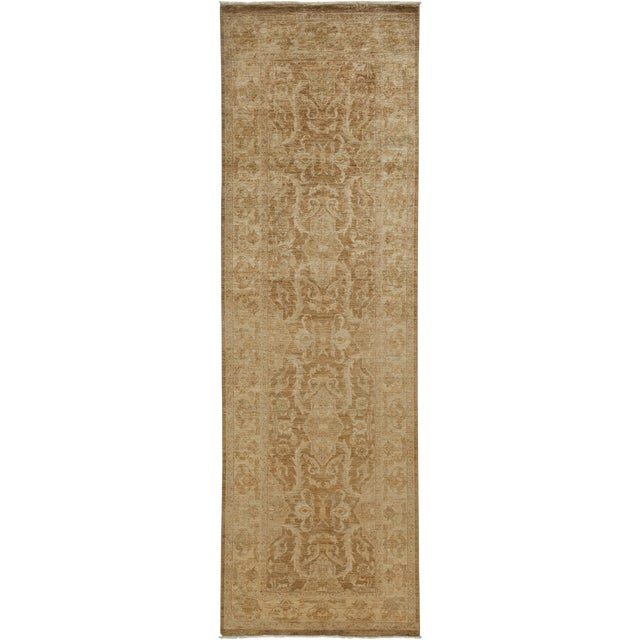 "Oushak, Hand Knotted Runner - 3'3"" X 10'3"" For Sale"