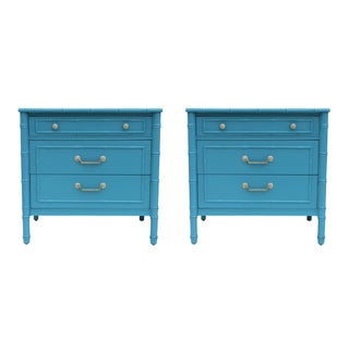 Faux Bamboo Chests by Thomasville - A Pair