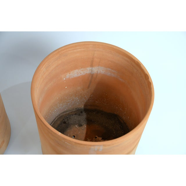 Contemporary Large Unglazed Architectural Terracotta Planters by Gainey Ceramics - a Pair For Sale - Image 3 of 10