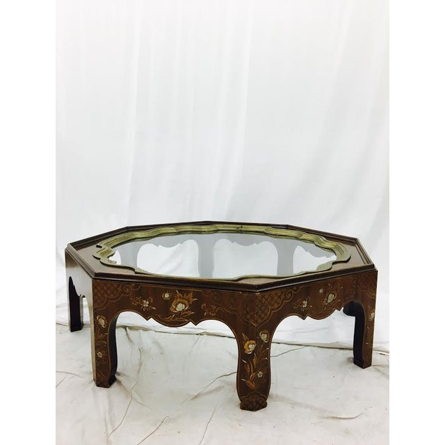 Baker Mid-Century Coffee Table with Brass & Glass Tray Top For Sale In Raleigh - Image 6 of 11