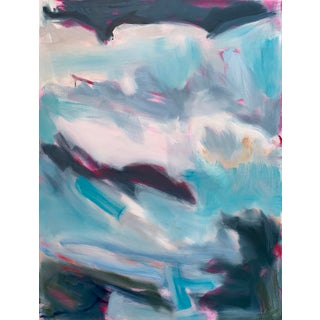 """""""High Seas"""" by Trixie Pitts Large Triptych Abstract Oil Painting Preview"""