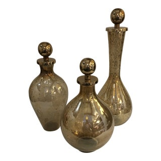 Contemporary Decanters - Set of Three For Sale
