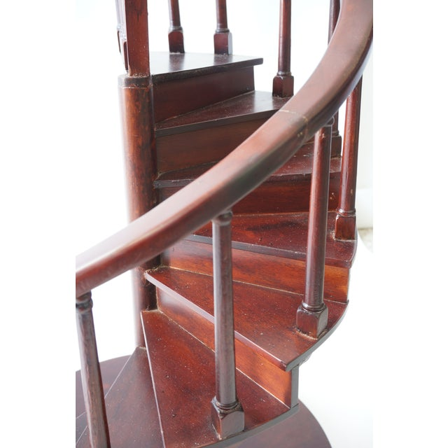 Vintage Spiral Staircase Architectural Model in Mahogany For Sale In West Palm - Image 6 of 9