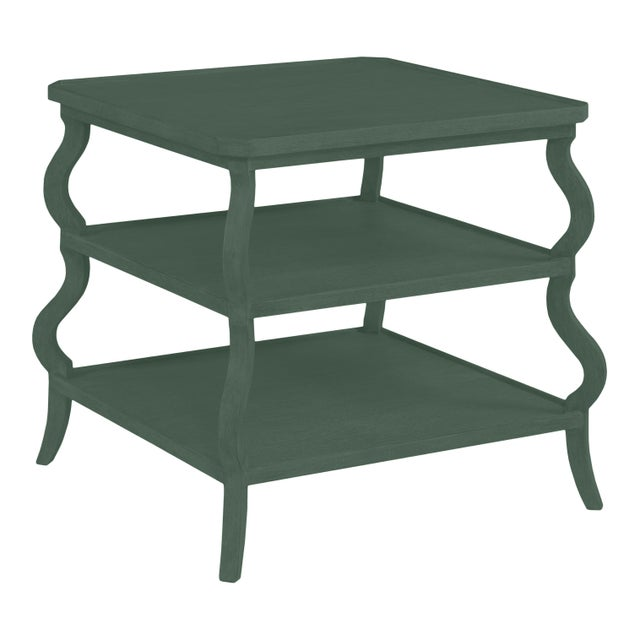 Traditional Abbott Tiered Side Table, Dakota Shadow For Sale - Image 3 of 3