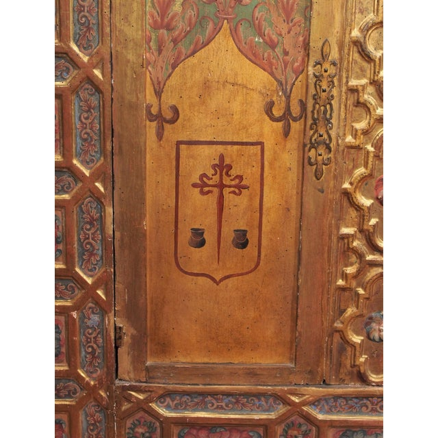 Italian Polychrome Two Door Cabinet For Sale In New Orleans - Image 6 of 11