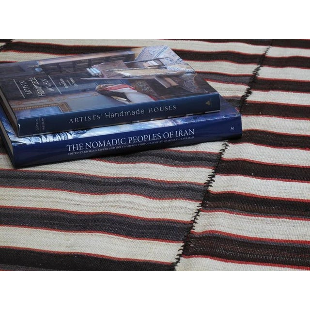 Textile Small Mazanderan Kilim For Sale - Image 7 of 9
