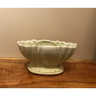 Vintage Celery Green Drip Pottery Preview