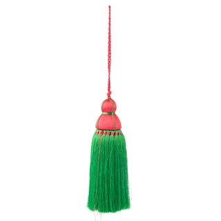 Green & Pink Tassel, Large Preview