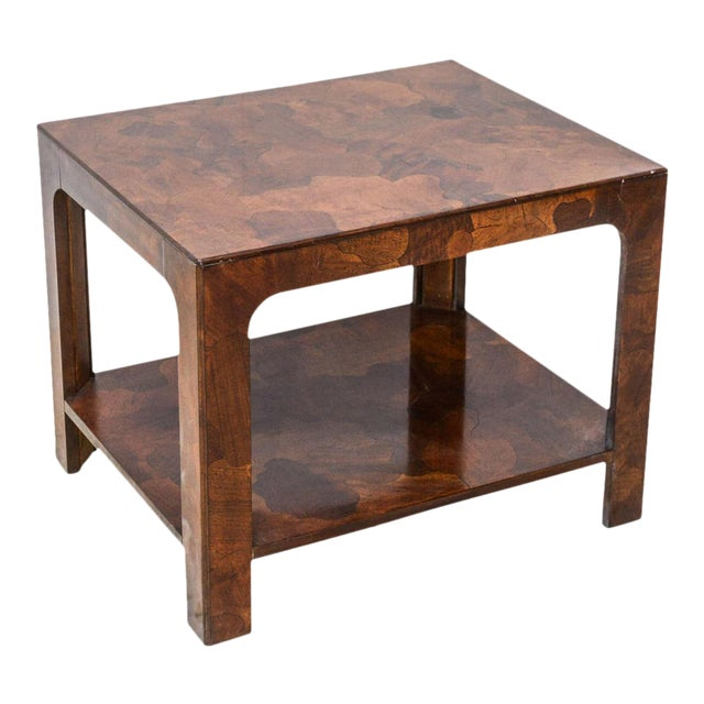 American Modern Inlaid Mixed Wood Table, American of Martinsville For Sale