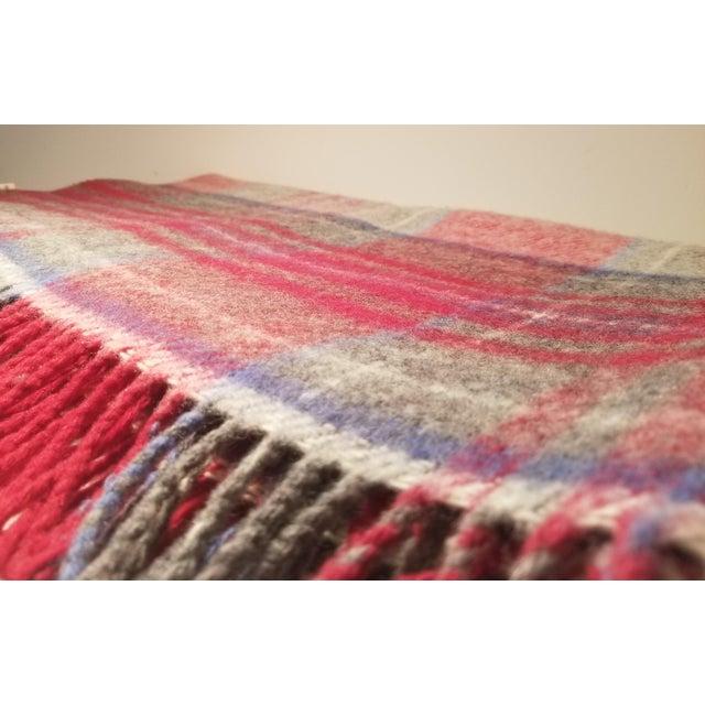 Lanerossi Italian Plaid Wool Blanket - Image 3 of 4