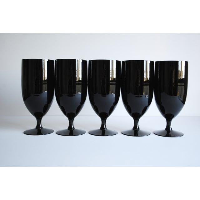 Black Fostoria Glasses - Set of 5 - Image 4 of 5