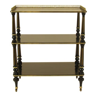 19th Century Napoleon III Brass Serving Cart