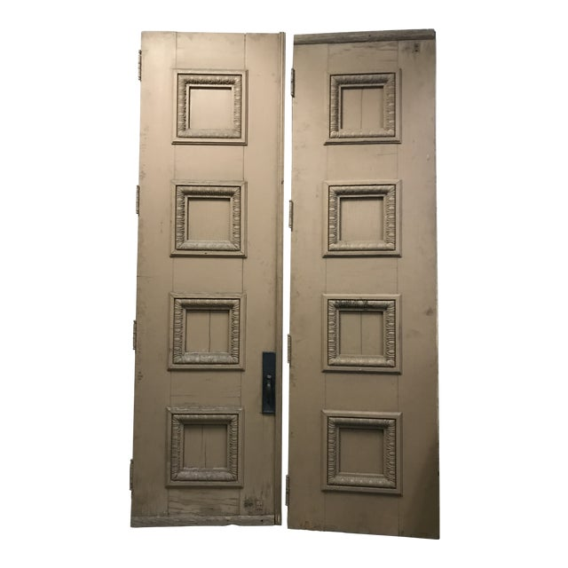 1880s Monumental Italian Renaissance Architectural Salvage Church Doors - a Pair For Sale