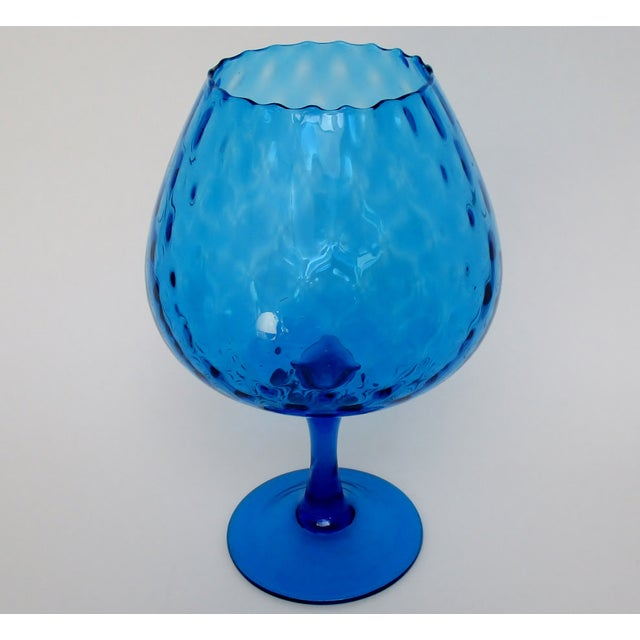 Italian Vintage Italian Goblet Vase For Sale - Image 3 of 6
