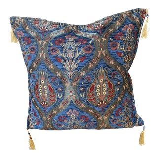 Authentic Turkic Kilim Motif Pillow Cover - 17ʺW × 17ʺH For Sale