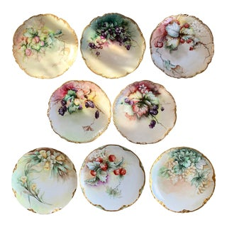 1890s French Hand Painted China Set For Sale