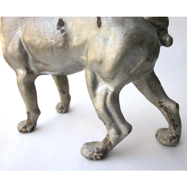 Metal 1930s Vintage Cast Iron Boston Terrier Doorstop / Figurine For Sale - Image 7 of 8