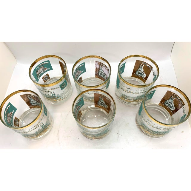 Mid-Century Modern 1950s Mid-Century Culver Steamboat Lowball Glasses - Set of 6 For Sale - Image 3 of 8