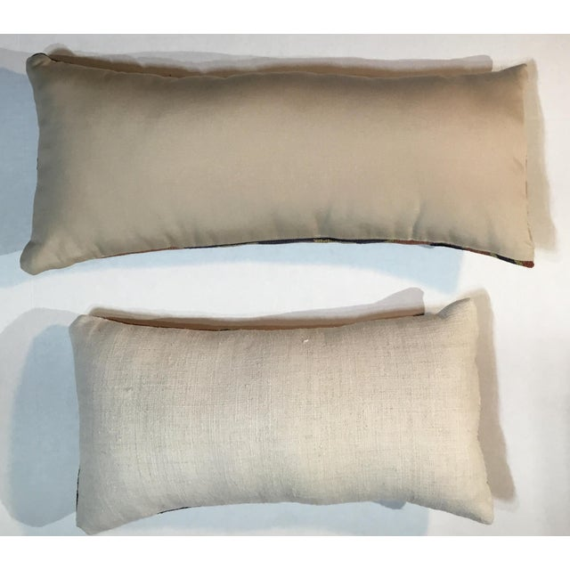 1960s Mediterranean Kazak Cotton Pillows - a Pair For Sale - Image 4 of 13