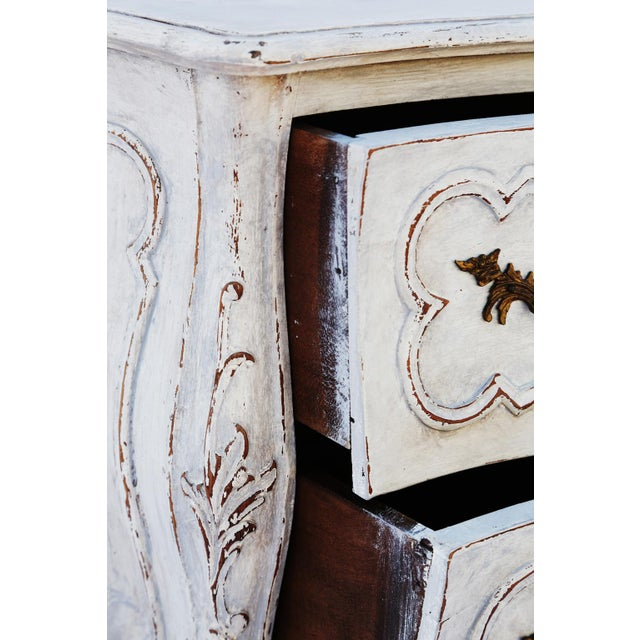 Pair of Painted Rococo-Style Nightstand Commodes For Sale In West Palm - Image 6 of 9