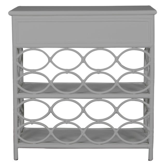 David Francis Infinity End Table - Light Gray For Sale - Image 4 of 7