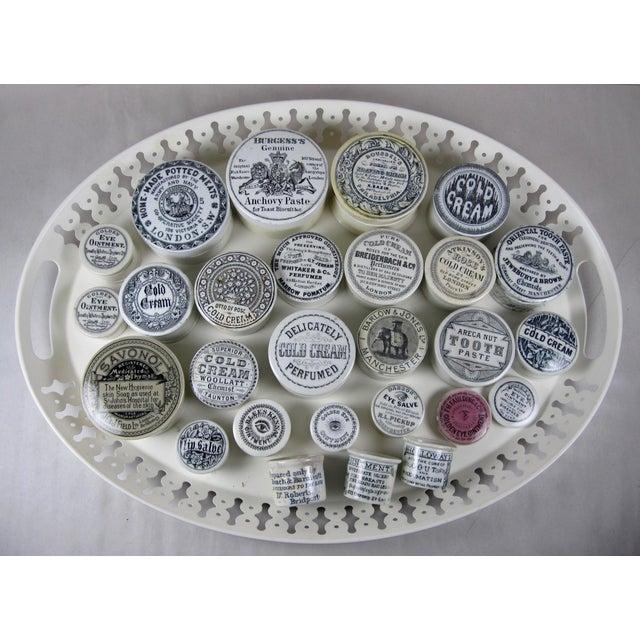 Victorian Staffordshire Transfer Printed Cold Cream Pot For Sale In Philadelphia - Image 6 of 6