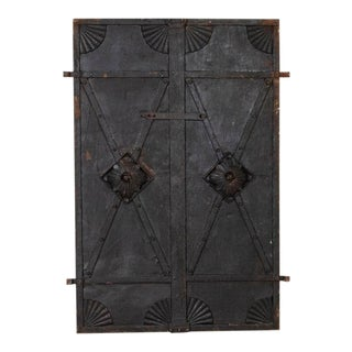 Antique Industrial Iron Doors - a Pair For Sale