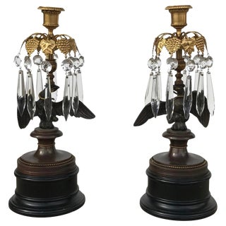 Pair of English Regency Candlesticks For Sale