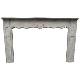 19th Century Vintage French Wood Mantel For Sale
