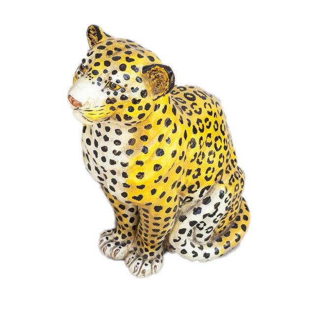 Mid-Century Ceramic Leopard - Image 1 of 10