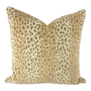 Cowtan and Tout Ocelot in the Color Ecru and Beige Pillow Cover For Sale