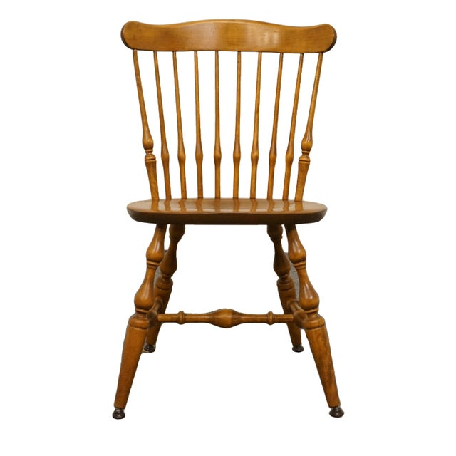 Late 20th Century Vintage Nichols & Stone Solid Maple Spindle Back Dining Side Chair For Sale - Image 10 of 10