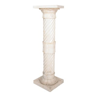 Antique Italian Pedestal Marble Table For Sale
