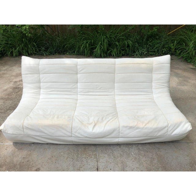Michael Ducaroy Togo Style White Vinyl Sectional - Set of 4 For Sale - Image 6 of 13
