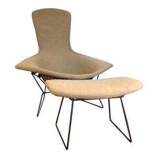 Harry Bertoia for Knoll Bird Chair & Ottoman For Sale