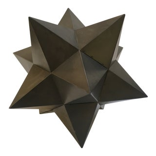 Multi Pointed Bronze Finish Star Sculpture For Sale