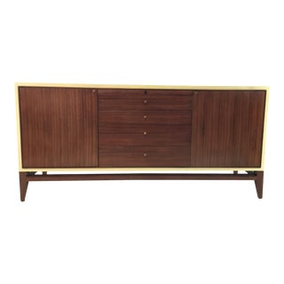 Barbara Barry for Henredon Walnut and Faux Parchment Modern Matinee Media Console For Sale