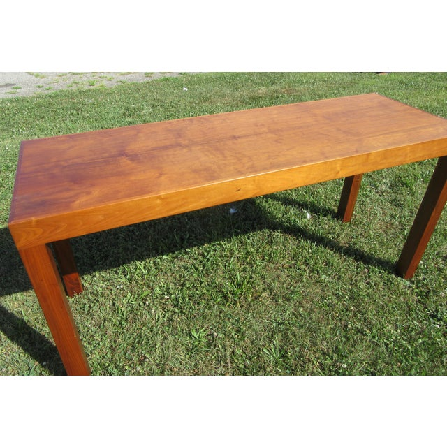 Mid-Century Modern Teak Sofa /Hall Table Signed Paine's Furniture For Sale - Image 9 of 10