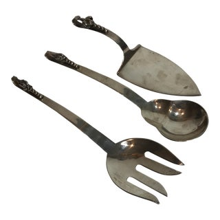 Sterling Silver Serving Set - 3 Pc. For Sale