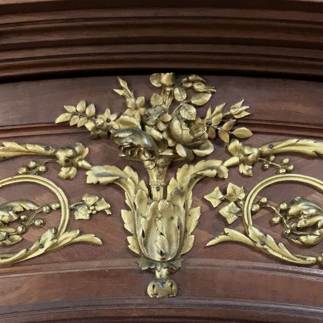 19th Century Louis XVI Bronze Mounted Mahogany Armoire by Schmit of Paris For Sale In Dallas - Image 6 of 13