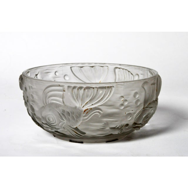 Molded and Frosted Glass Bowl - Image 6 of 6