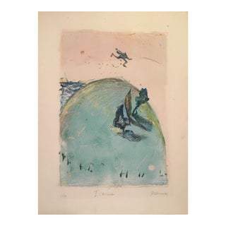 "Mary Devincentis ""Icarus"" Monotype Pastel For Sale"